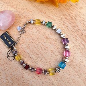 Multicoloured Silver Bracelet